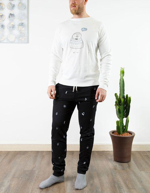 oaoa-pigiama-uomo-oa1741-nero